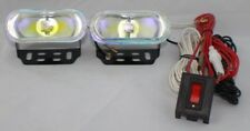 "3.5"" Universal Rainbow 12V H3 55W FOG LIGHTS LAMPS HARNESS SET PAIR CIVIC ACCORD"