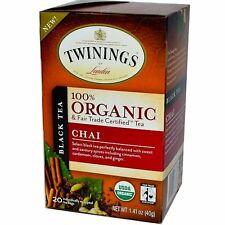 Twinings Black Organic Tea Cinnamon Cardamom Cloves Ginger 20 Tea Bags