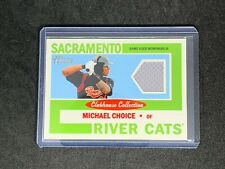 2013 Heritage Minor League Michael Choice CLUBHOUSE COLLECTION RELIC #CCR-MR