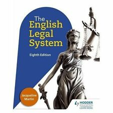 English Legal System Eighth Edition by Jacqueline Martin (Paperback, 2016)