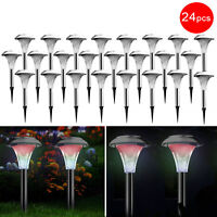 Stainless Steel Solar Powered Garden Light  Color Changing Lamp IP44 Waterproof
