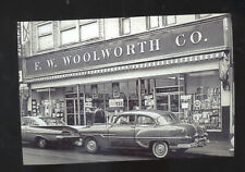 REAL PHOTO FALL RIVER MASSACHUSETTS WOOLWORTH STORE CARS POSTCARD COPY