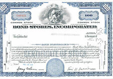 Bond Stores Incorporated 100 Shares 1965 auUNC
