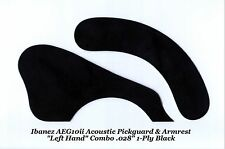 Ibanez AEG10ii Pickguard & Armrest LEFT HAND Black Acoustic Guitar Project NEW