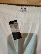 Deadstock 80s Champion Spell Out Vintage White Shorts With Tag size L 36-38