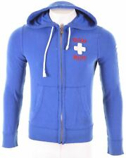 HOLLISTER Mens Hoodie Sweater Small Blue Cotton  KY19