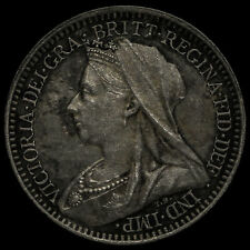 More details for 1899 queen victoria veiled head silver maundy twopence, unc
