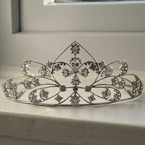Vintage White Zircon Encrusted Tiara