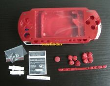For PSP 1000 Full Housing Shell faceplate Case sticker button replacement red