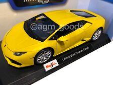 Maisto 1:18 Scale - Lamborghini Hurucan - Yellow - Diecast Model Car