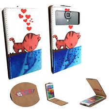 Oppo R1001 Joy - Smartphone Hülle Tasche Schutzhülle - Flip XS Katze Liebe