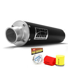 HMF Performance Slip On Exhaust Muffler Black Pro Design Foam Filter Warrior 350