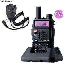 BaoFeng UV-5R Real 8W Walkie Talkie Dual-Band VHF/UHF FM Radios uv5r Speaker Mic
