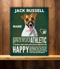 PERSONALISED  JACK RUSSELL DOG   BREED   VINTAGE METAL SIGN RS06