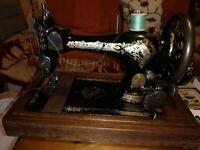 """ANTIQUE SINGER 28 or 28k SEWING MACHINE 1897  """"Victorian  DECALS WORKING"""