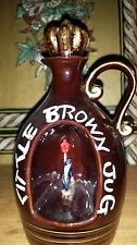Vintage Little Brown Jug Music Box / Drunk clown holding on to Light Post