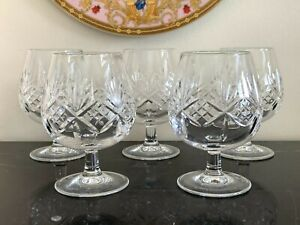Tiffany & Co Newport Crystal Brandy Snifters Set of 5