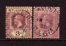 St LUCIA....  1921-30  3d, 6d used