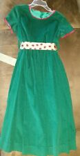 Maggie Breen Too Girls Size 6 Dress Green With Lady Bug Ribbon Belt