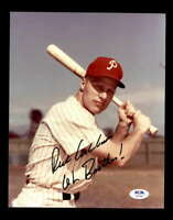 Richie Ashburn PSA DNA Coa Signed 8x10 Photo Autograph