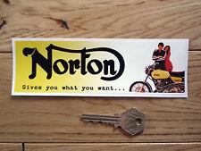 """NORTON oblunghi Pubblicità Auto Adesivo 6.5 """"BIKE MOTO classico commando Toolbox"""