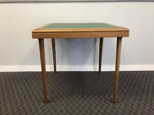 Mid Century Modern Brown Wood Folding Table STAKMORE green wooden art deco 50s