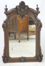 Antique Georgian Carved Oak Wall Mirror - FREE Shipping [PL4529]