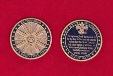 SCOUT OATH Challenge Coin Law Motto Slogan BSA Cub Boy Scouts Large Heavy MINT