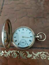 Waltham Traveller Gold Plated Pocket Watch In Working Order