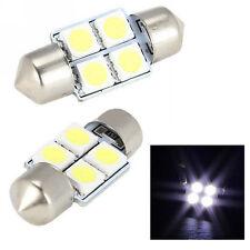 2 x 31mm 4 SMD 5050 LED Car Interior Festoon Dome Light Bulbs Lamp White DC 12V