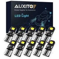 10X White Canbus LED Light Blubs T10 Map Dome License Plate Interior Lamp 6000K