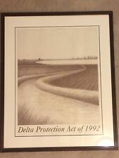Delta Protection Act 1992 Framed Art Pencil Drawing Signed Numbered 63/100