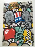 THE FLYING FORTRESS STICKER - TEDDY TROOOPS - 10x7cm - STREET ART - PEGATINA