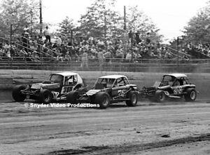 Bob Pickell, Gerald Chamberlain & Tom Hager at Flemington Fair Speedway Photo