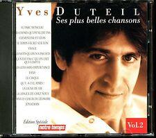 YVES DUTEIL - SES PLUS BELLES CHANSONS VOL.2 - BEST OF CD ALBUM [1878]
