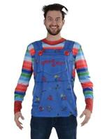 Faux Real Chucky Sublimated Photorealistic Adult Halloween Costume Shirt F152589