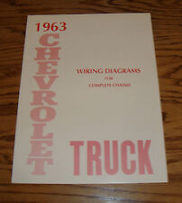 1963 Chevrolet Truck Wiring Diagram Manual for Complete Chassis 63 Chevy