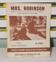 MRS. ROBINSON SHEET MUSIC! WORDS & MUSIC BY PAUL SIMON!