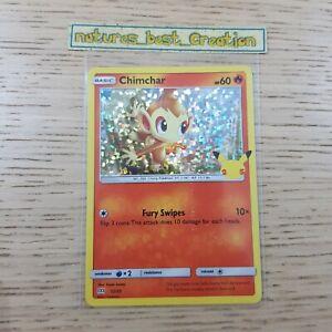 EX Condition Chimchar 12/25 Holo/Shiny Pokemon Card 25th Aniversary Promo
