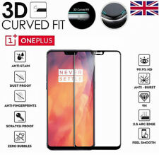 For OnePlus 6 Full Cover 3D Curved Tempered Glass 9H Screen Protector Black