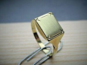 Gold ( 585 ) Herren Siegel Ring, gut erhalten,