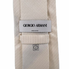 Giorgio Armani - Luxury Mens Tie - Italy 100% Silk Champagne White Wow