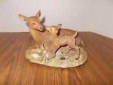 Homco Mother Doe & Fawn Masterpiece Porcelain Deer Figurine Figure