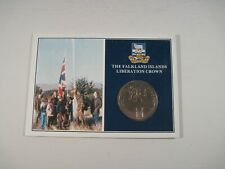 More details for the falkland islands liberation crown coin in commemorative folder
