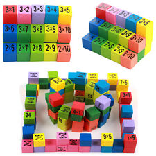 Wooden Multiplication Table Math Board Game Toy Early Educational Child Learn JA
