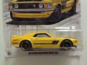 Hot Wheels Ford Mustang Boss 302 69 Detroit Muscles 1//64