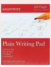 Easynote Quality Plain Writing Pad With Guide Sheet 200 Pages 135x170mm