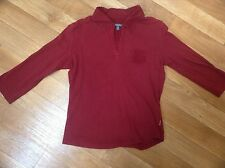 Ladies t shirt top by Street One size small size 10 burgundy slightly stretchy