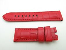 Panerai RED croc strap 24mm / 22mm TANG BUCKLE ONLY  125mm / 75mm for 44mm NEW