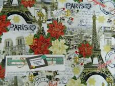 Patchwork Quilting Fabric HOLIDAY PARIS French Sewing Material Cotton FQ 50X55cm